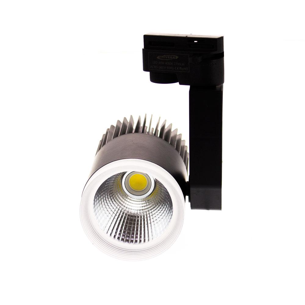 Faretto proiettore da binario 30W 2700Lm 30° - Universo - PuntoLed.it