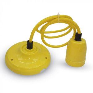 Portalampada ceramica giallo