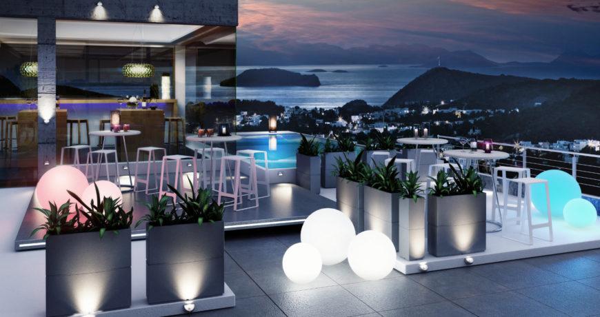 Plafoniere Per Giardino : Illuminazione di design per giardini e piscine puntoled.it